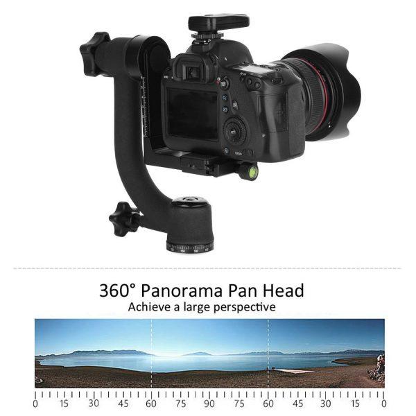 ขาตั้งกล้องหมุนได้ 360 องศา Horizontal 360 Degree Gimbal Tripod Head